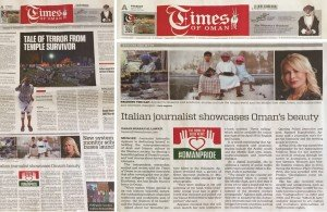 Italian journalist showcases Oman's beauty, tolerance - Times of Oman